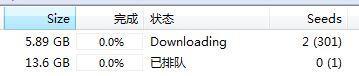 utorrent下载的时候显示已排队是什么意思