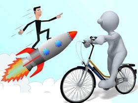 PT与BT,火箭与单车